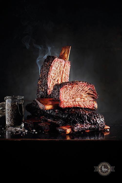 Gerookte beef ribben Texas stijl