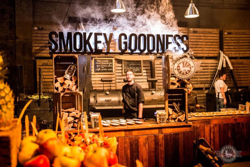 Smokey Goodness buffet presentation