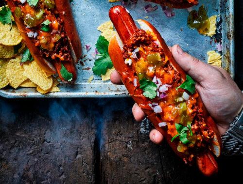 Chili cheese hotdogs header
