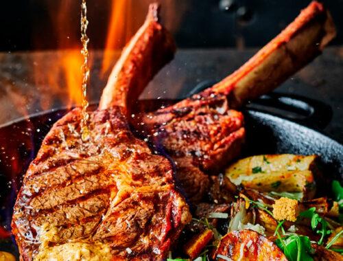 Tomahawk steak smokin' Diane-Style-header