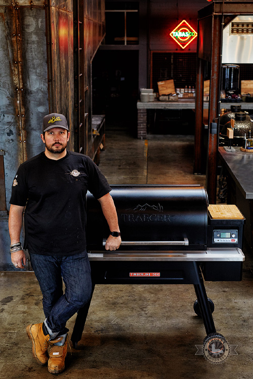 Jord Althuizen with Traeger 1300 timberline