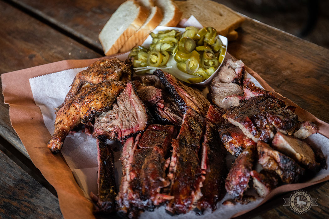 Snow's BBQ meat platter