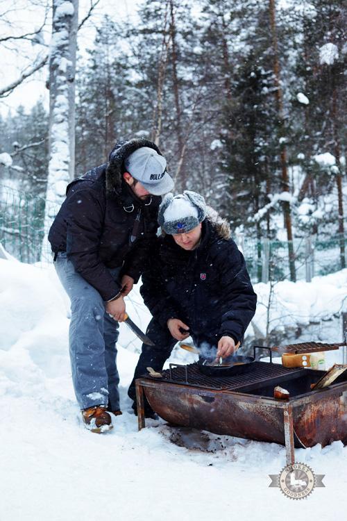 Winter BBQ cooking Jord Althuizen en matti hurtia