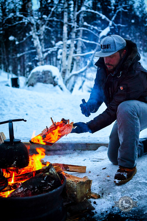 cooking winter salmon in finland