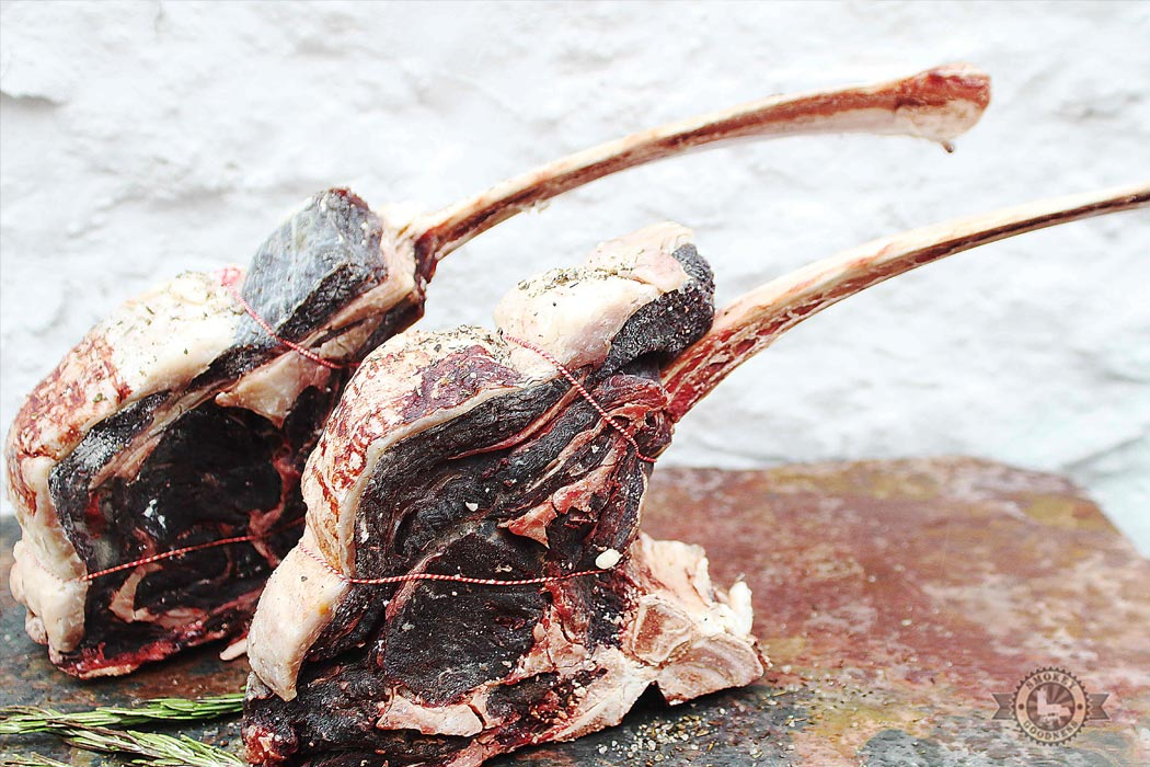 dry aged tomahawks by marcus bawdon
