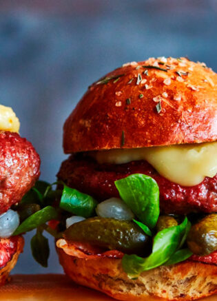 Raclette fondue burger-header